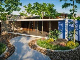 CASA SÁASIL KIIN  ( CASA QUE SALUDA AL SOL ): Casas de campo de estilo  por PERCEPTO ARQUITECTURA