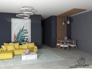 SKY İç Mimarlık & Mimarlık Tasarım Stüdyosu Mediterranean style living room