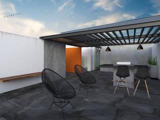 ROOF / 19-1: Terrazas de estilo  por OLIVAS ARQUITECTOS