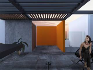 ROOF / 19-1: Pasillos y recibidores de estilo  por OLIVAS ARQUITECTOS