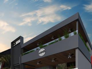 BEBEDERO 21 / BAR & Grill: Terrazas de estilo  por OLIVAS ARQUITECTOS