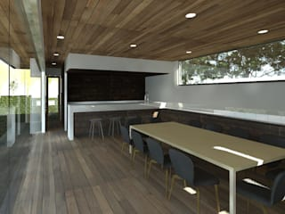 Modern dining room by MRH Arquitectos Modern