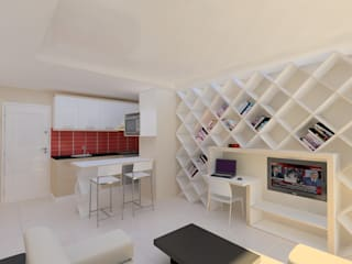 HKC House PRATIKIZ MIMARLIK/ ARCHITECTURE SalonEtagères Blanc