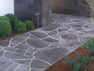African Grey Crazy Paving (Flagstone) by Persian Tiles Modern