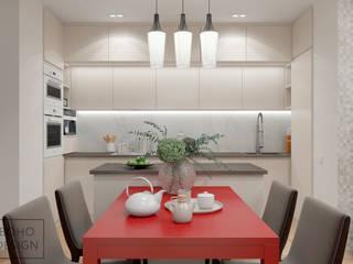 Дизайн-проект четырехкомнатной квартиры по ул. Радищева, г Минск. Гостиная в стиле модерн от BOHO DESIGN Модерн