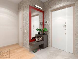 Дизайн-проект четырехкомнатной квартиры по ул. Радищева, г Минск. Коридор, прихожая и лестница в модерн стиле от BOHO DESIGN Модерн