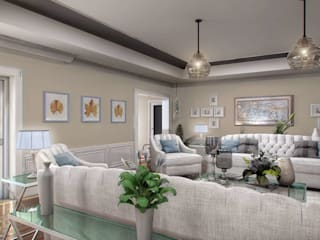 Yunus Emre Villa - İsveç Modern Oturma Odası VERO CONCEPT MİMARLIK Modern