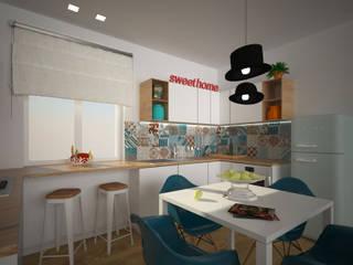 Nowoczesna kuchnia od B+P architetti Nowoczesny
