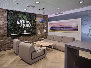 Sala Lounge de Beko en el Estadio del F.C. Barcelona Estadios de estilo moderno de Cubiñá, muebles de diseño en Barcelona Moderno