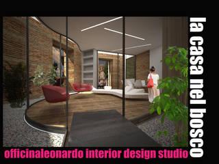 La casa nel bosco - work in progress: Ingresso & Corridoio in stile  di officinaleonardo, Moderno