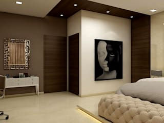 Bedroom concepts: modern  by iD INTERIORS AND DESIGN STUDIO PVT LTD,Modern