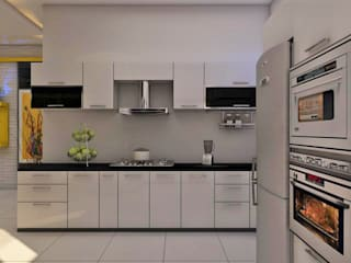 iD INTERIORS STYLE MODULAR KITCHEN: eclectic  by iD INTERIORS AND DESIGN STUDIO PVT LTD,Eclectic
