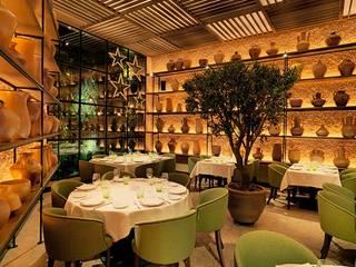 Remodelación del Restaurante L'Olivé de Barcelona Gastronomía de estilo mediterráneo de Cubiñá, muebles de diseño en Barcelona Mediterráneo
