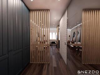 Квартира холостяка Коридор, прихожая и лестница в стиле лофт от Gnezdo Лофт