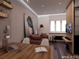 Квартира холостяка Гостиная в стиле лофт от Gnezdo Лофт