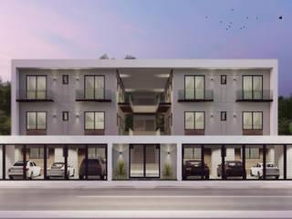 Remodelación + ampliación de edificio de departamentos de ROEDI Moderno