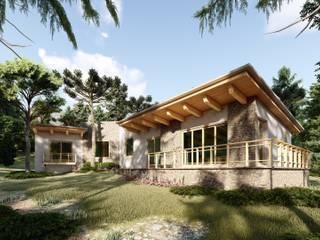 Cabaña de Tapalpa: Casas de estilo  por N+A arquitectos