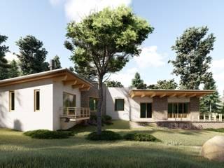 Cabaña de Tapalpa: Cabañas de madera de estilo  por N+A arquitectos