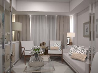 1 Bedroom Condo in Manila CIANO DESIGN CONCEPTS Living room