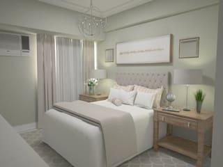 1 Bedroom Condo in Manila CIANO DESIGN CONCEPTS Modern style bedroom