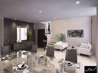 Casa Köju: Salas de estilo  por FFélix Architecture