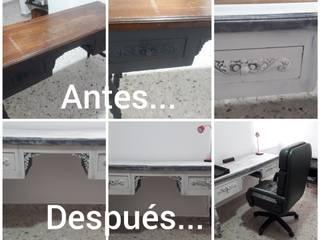 Restauracion de escritorio en madera estilo clásico de Margarita Arango Clásico