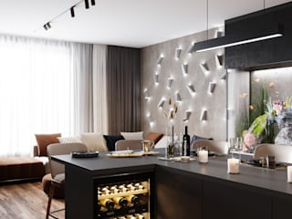 Minimalist living room by Студия архитектуры и дизайна Дарьи Ельниковой Minimalist