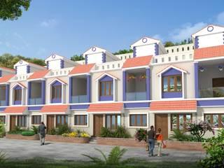 Aashish Row Houses at Bangalore:   by Vasant Kumar Associates