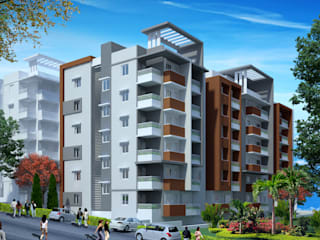 Someshwar Vista Apartment at Mangalore:   by Vasant Kumar Associates