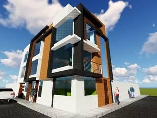 VIVIENDA MULTIFAMILIAR: Casas multifamiliares de estilo  por HyS Arquitectos, Moderno