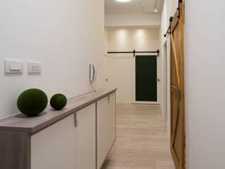 CL HOUSE 斯堪的納維亞風格的走廊,走廊和樓梯 根據 裊裊設計 KATE CHANG DESIGN STUDIO 北歐風