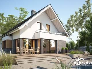Projekt domu Megan II Nowoczesne domy od 'Dobre Domy Flak&Abramowicz' Sp. z o.o. Sp.k. Nowoczesny