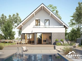 Modern houses by 'Dobre Domy Flak&Abramowicz' Sp. z o.o. Sp.k. Modern