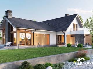 Projekt domu Orchidea Nowoczesne domy od 'Dobre Domy Flak&Abramowicz' Sp. z o.o. Sp.k. Nowoczesny