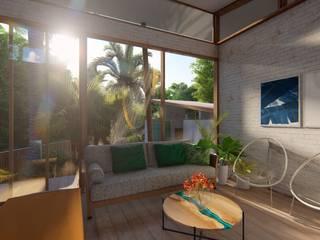 Cabaña Posidonia Salones tropicales de Eva Arceo Interiorismo Tropical