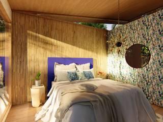 Cabaña Posidonia Dormitorios tropicales de Eva Arceo Interiorismo Tropical