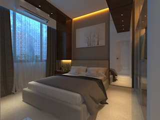 Modern style bedroom by Sagar Shah Architects Modern