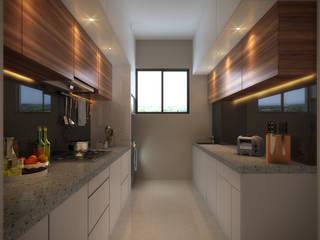 Sagar Shah Architects Modern kitchen