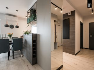 Couloir et hall d'entrée de style  par KODO projekty i realizacje wnętrz