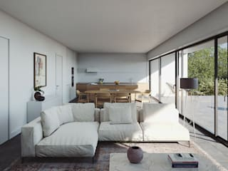 Minimalist living room by FMO ARCHITECTURE Minimalist