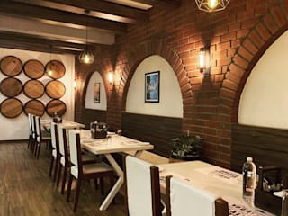 """Wine bar and restaurant in Bangalore """"Protein grill house"""" Rustic style bars & clubs by Studio . abhilashnarayan Rustic"""