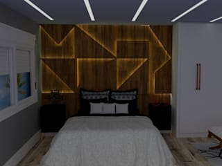 Small bedroom by STUDIO SPECIALE - ARQUITETURA & INTERIORES