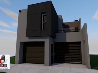 Ampliacion de casa habitacion: Casas de estilo  por ARC ARQUITECTURA