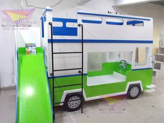 Divertida litera de Camión: Habitaciones infantiles de estilo  por camas y literas infantiles kids world