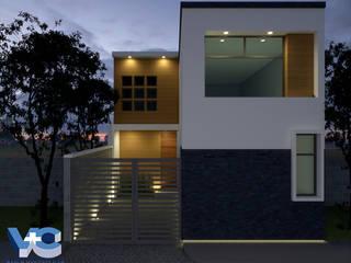 CASA MODELO VC1: Casas de estilo  por V+C Arquitectura