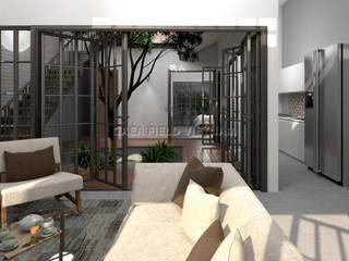 BIỆT THỰ NGHỈ DƯỠNG VEN BIỂN LỘC AN Phòng khách phong cách tối giản bởi Gaea Field Việt Nam Tối giản