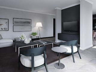 Sandton Penthouse Interior Design & Architecture CKW Lifestyle Associates PTY Ltd Modern living room