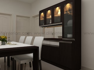 DINING ROOM INTERIORS:   by DLIFE Home Interiors,