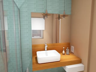 Projeto de WC em Corroios por R&U ATELIER LDA Moderno