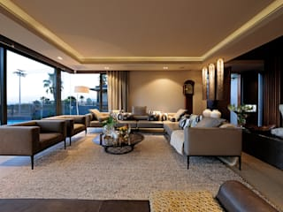 House La Croix Fresnaye Modern living room by KMMA architects Modern